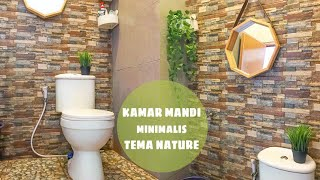 KAMAR MANDI MINIMALIS TEMA NATURE