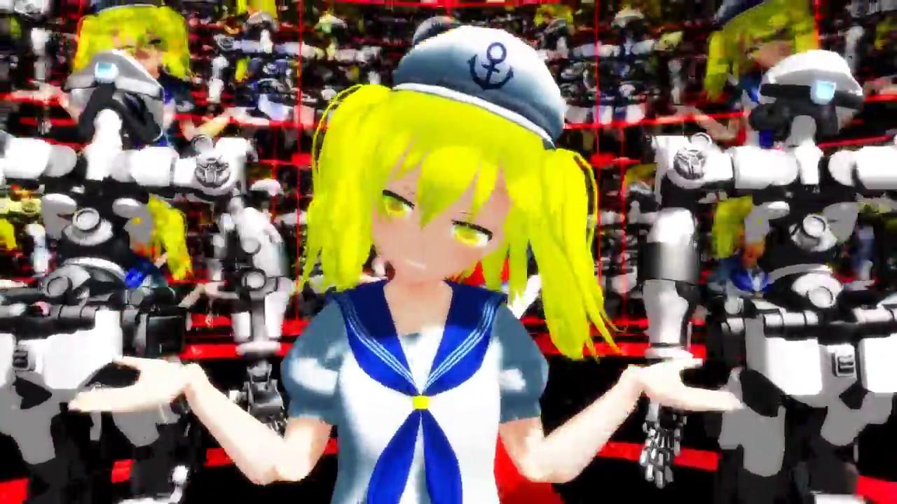 【Touhou MMD】教授と助手で「小悪魔りんご」 【東方MMD】