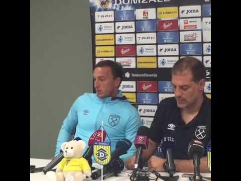 West Ham Press Conference in Slovenia