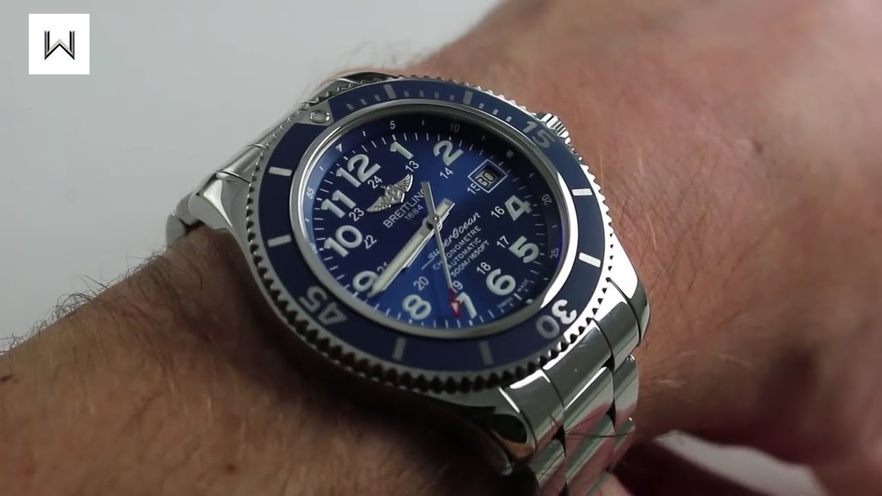 breitling superocean ii a17365 luxury watch review youtube