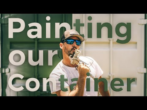 Painting Our SHIPPING CONTAINER HOUSE | Ep. 6