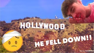 FALLING DOWN THE HOLLYWOOD HILLS! 😶 *CAUTION - BLOOD!!* 🤕😷