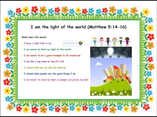 Children's Light Club : I am the light of the world (January 2020)