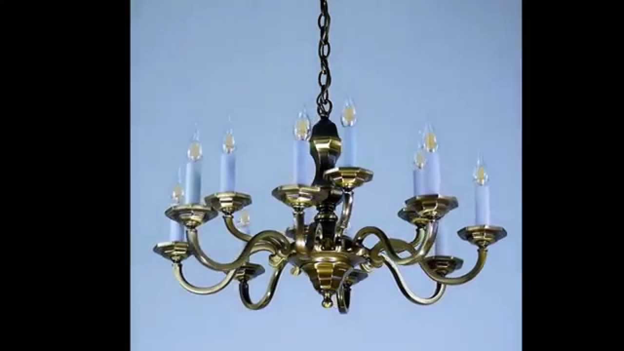 1880_S8+4: lampadario d'ottone barocco per led e soffitti bassi ...
