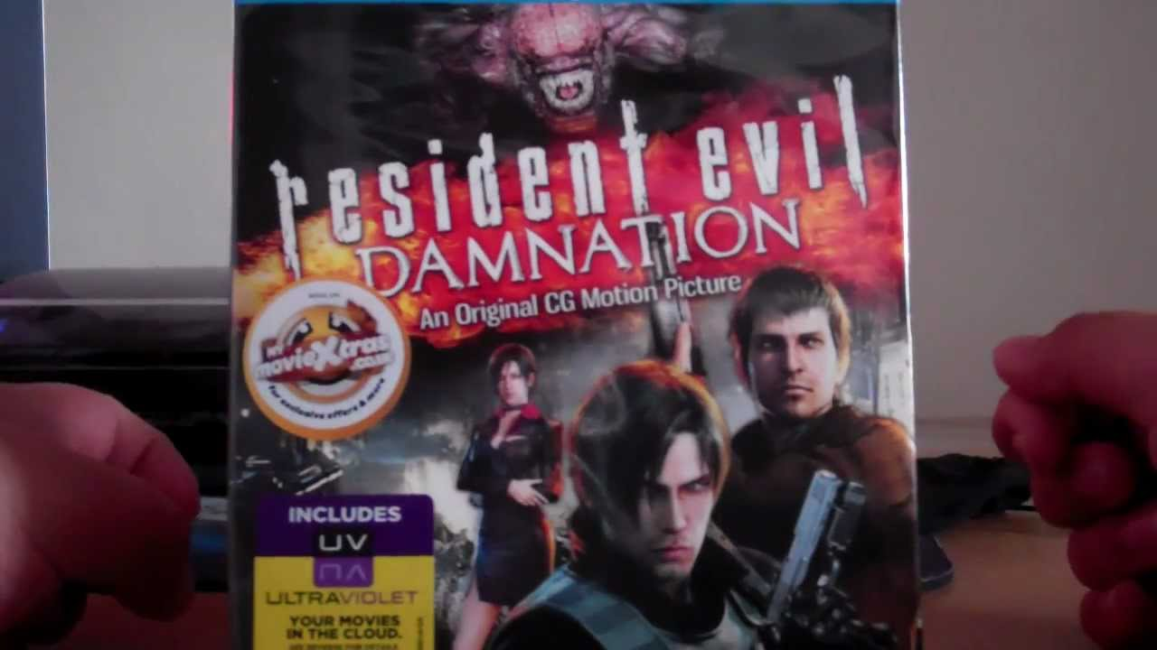 Resident Evil Damnation Blu Ray Unboxing Early Copy 2012 22 9 12 Youtube