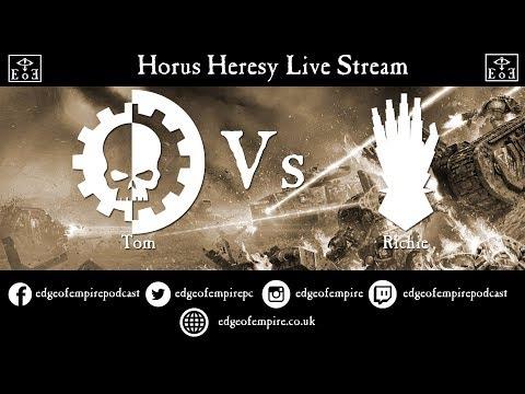 Company of Legends - Mechanicum vs Iron Hands - Live Streamed Horus Heresy Game
