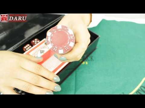 Покерный набор, 100 фишек. Набор для игры в покер в картонной упаковке