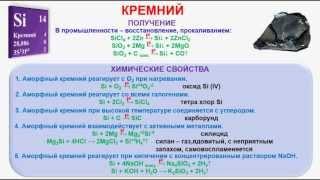 № 242. Неорганическая химия. Тема 30. Кремний и его соединения. Часть 2. Химические свойства кремния