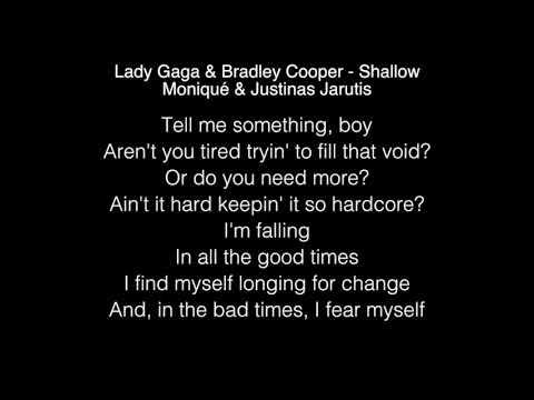Lady Gaga & Bradley Cooper  Shallow Lyrics Youtube