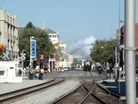 Union Pacific #844 at Oakland-Jack London Square,CA (arrival)