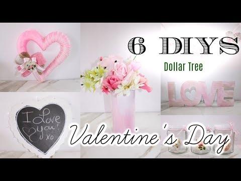 💖6 DIY DOLLAR TREE VALENTINES DAY DECOR CRAFTS 💖 WREATH, GARLAND, FLORAL ARRANGEMENT 2019