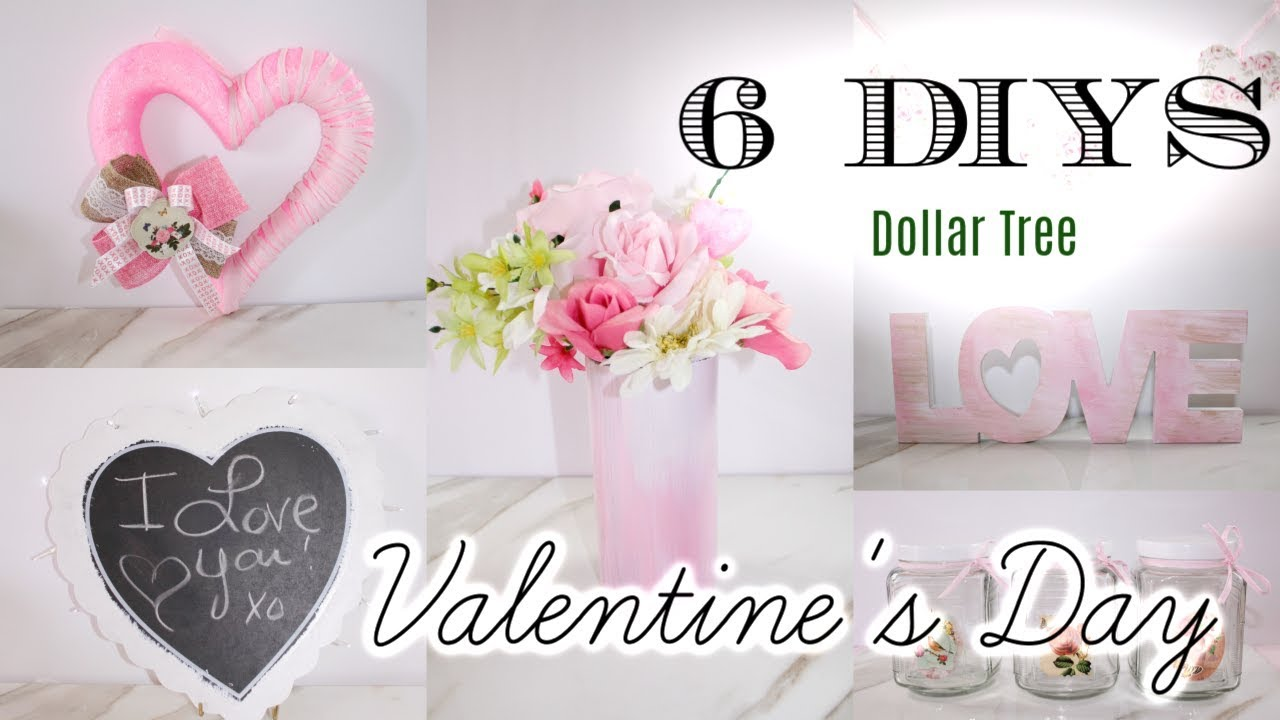 6 DIY DOLLAR TREE VALENTINES DAY DECOR CRAFTS 💖 WREATH