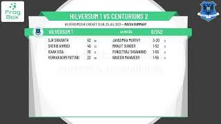 🔴LIVE: Hilversum 1 vs Centurions 2   KNCB 3e Klasse Round 4   Royal Dutch Cricket   25-07-2021