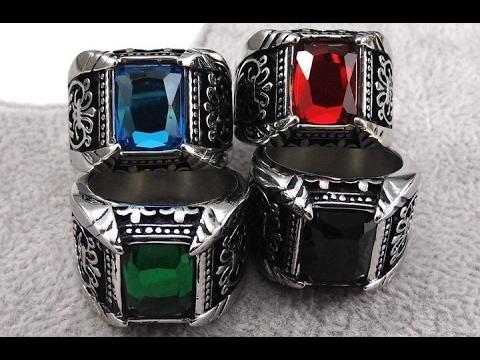 Посылка из Китая. Красивое мужское кольцо с камнем