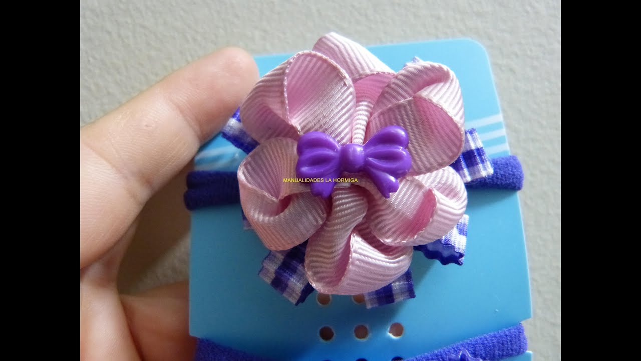 Como hacer mo os de para el cabello flores diferentes - Como hacer monos ...