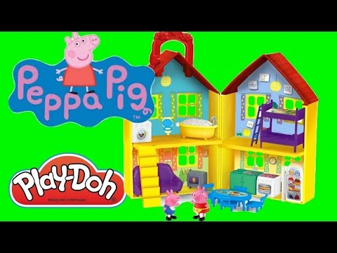 Peppa Pig Toys - Play Doh Playset & Peppa Pig Surprise Eggs