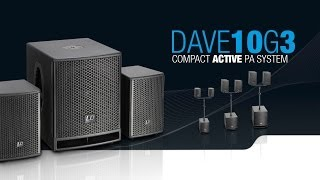 "LD Systems DAVE 10 G3 - Compact 10"" powered PA System"