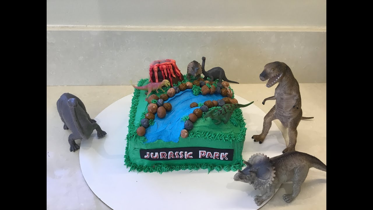 Jurassic Park Cake Super Simple Youtube