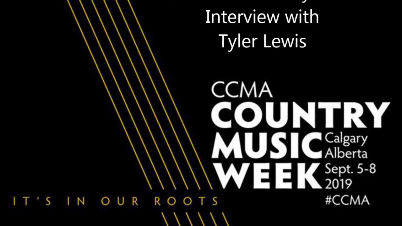 Tyler Lewis at the 2019 CCMA's in Calgary