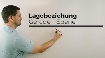 Lage Gerade/Ebene, Parameterformen gleichstellen, Lagebeziehungen | Mathe by Daniel Jung
