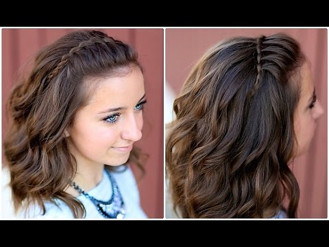 DIY Faux Waterfall Headband Cute Girls Hairstyles YouTube