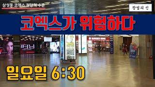 삼성동 스타필드 코엑스몰, 일요일 오후 망하기 일보 직…