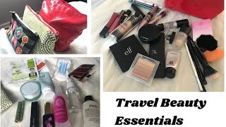 Travel Beauty Essentials| Makeup +Skincare |What's in My Travel Makeup and Skincare Bag?