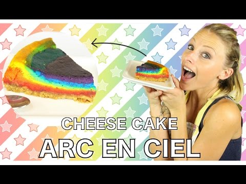 ♡•-je-me-fais-arreter-!!!-|-recette-cheesecake-arc-en-ciel-•♡