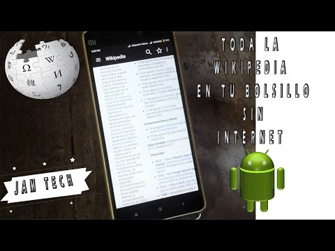TENER la WIKIPEDIA COMPLETA sin Internet en Android Kiwix