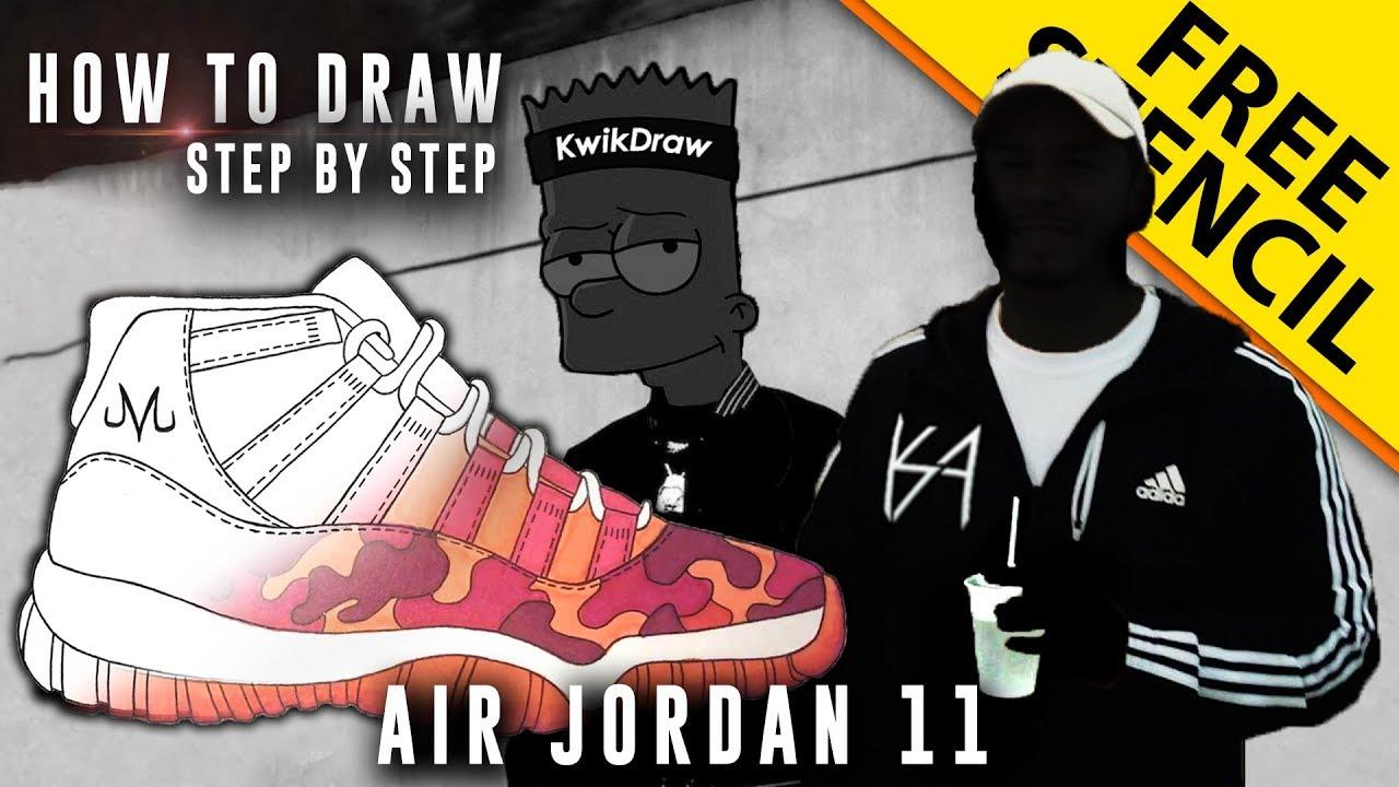 how to draw air jordan 11