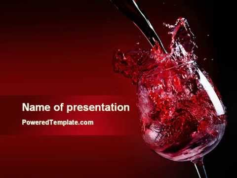 fantastic red wine powerpoint template by poweredtemplate com youtube