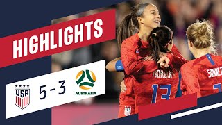 USA 5-3 AUSTRALIA Highlights | Apr. 4, 2019 | Commerce City, CO - Dick's Sporting Goods Park