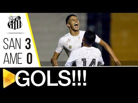 Santos 3 x 0 América-RN | GOLS | Copa SP (02/01/18)