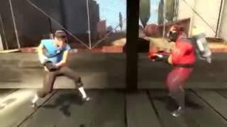 Team Fortress 2. Беседа разведчика с поджигателем.
