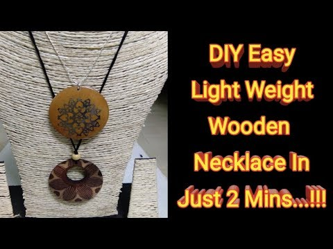DIY Light Weight Wooden Pendant Necklace