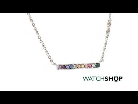 Guess Jewellery Ladies' Rhodium Plated Miami Necklace (UBN83050)