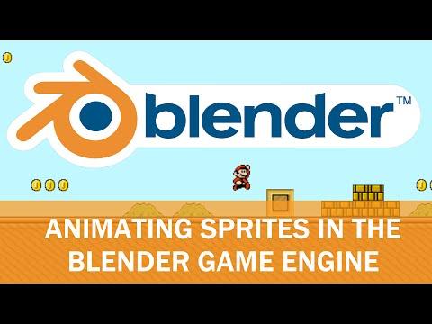 Blender Game Engine - Animated Sprites with Logic Bricks (Mario Edition)