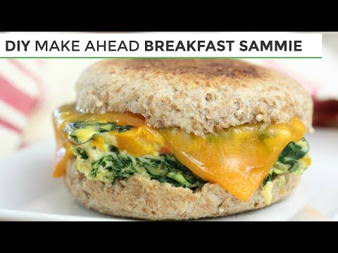 DIY Freezer Friendly Breakfast Sandwich | Easy Healthy Breakfast Ideas