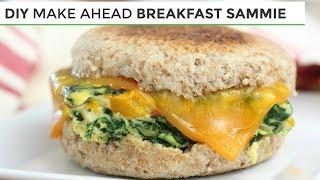 DIY Freezer Friendly Breakfast Sandwich | Easy Healthy Breakfast Ideas