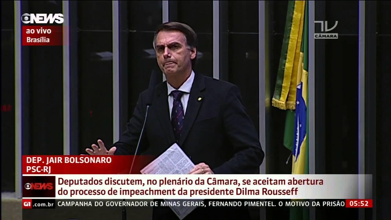 Discurso De Jair Bolsonaro No Impeachment Da Dilma Youtube