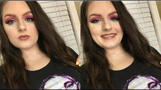 Pink Glitter & Pop Of Blue | GRWM | Makeup With Christine