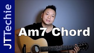 How to Play Am7 Chord on Acoustic Guitar | A Minor 7 Chord