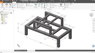 Autodesk Inventor Tutorial How to make steel Frame