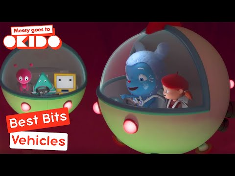 Messy Goes To Okido - Vehicles Best Bits! | Videos For Kids | Cbeebies