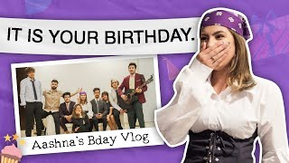 We turned ourselves into office characters| AASHNA's BDAY VLOG |