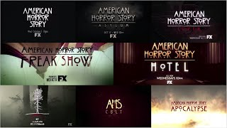 Every American Horror Story Trailer 1 - 8 (Murder House - Apocalypse)