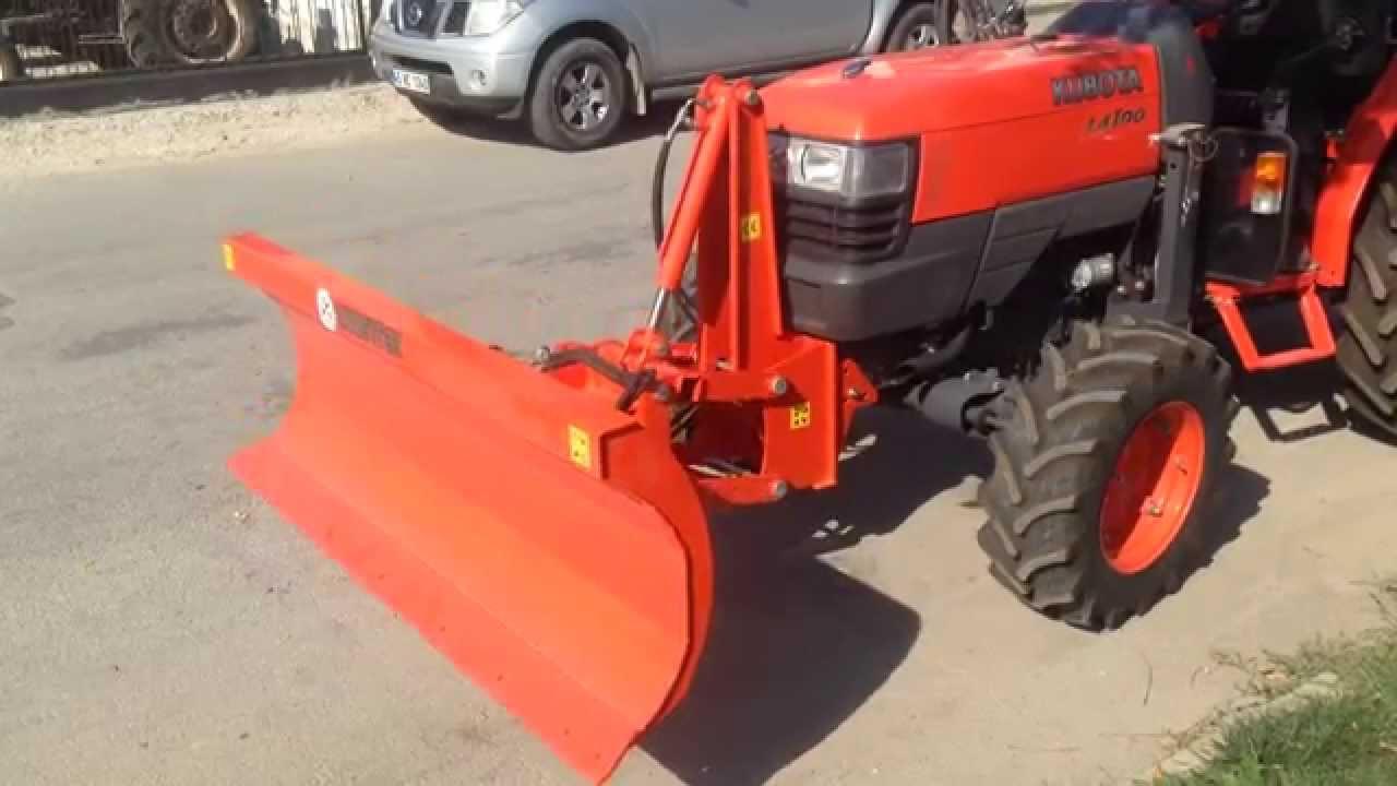 Kuzeytek H Drol K Kumandali Siyirga Kar Kureme Tractor
