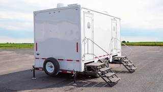 5 Station Luxury Portable Restroom Trailer | Luxury Legacy Series