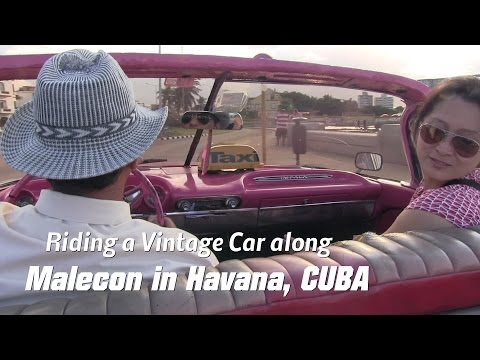 Travel to the Caribbean: My Trip to CUBA - Driving along Malecon in Havana