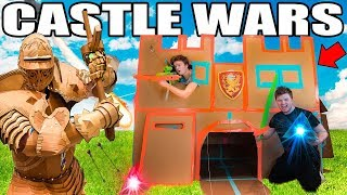 - TWO STORY BOX FORT CASTLE WARS  Sword Fighting, Archery More